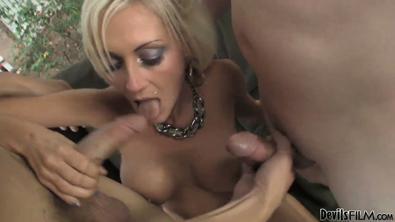 Sex Movie of Bisexual Studs Suck Each Other Off And Tease Their Blonde Friend