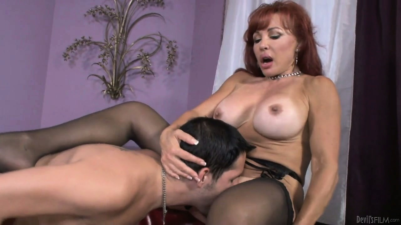 Sex Movie of Wild Milf Becomes Frantic When Young Dude Licks Her Terrific Cunt