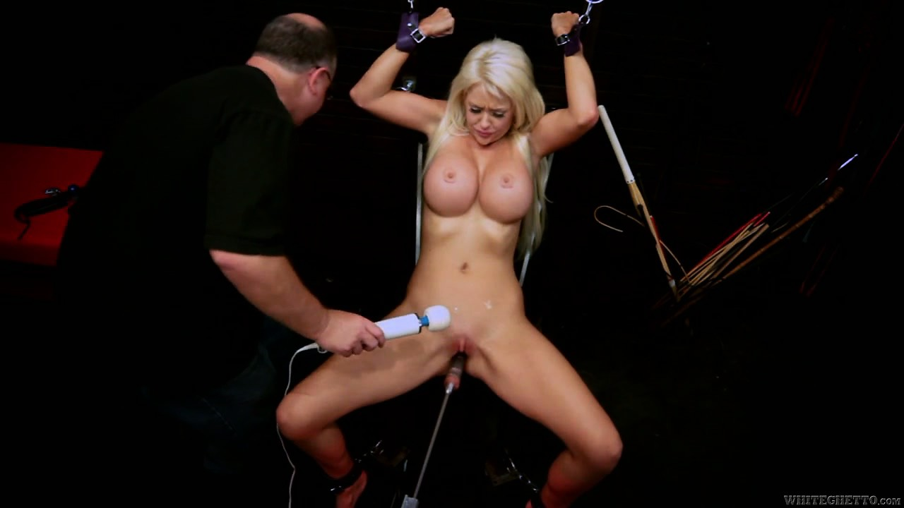 Porn Tube of She's Getting Her Hole Pounded By A Machine And Gets Clit Toyed