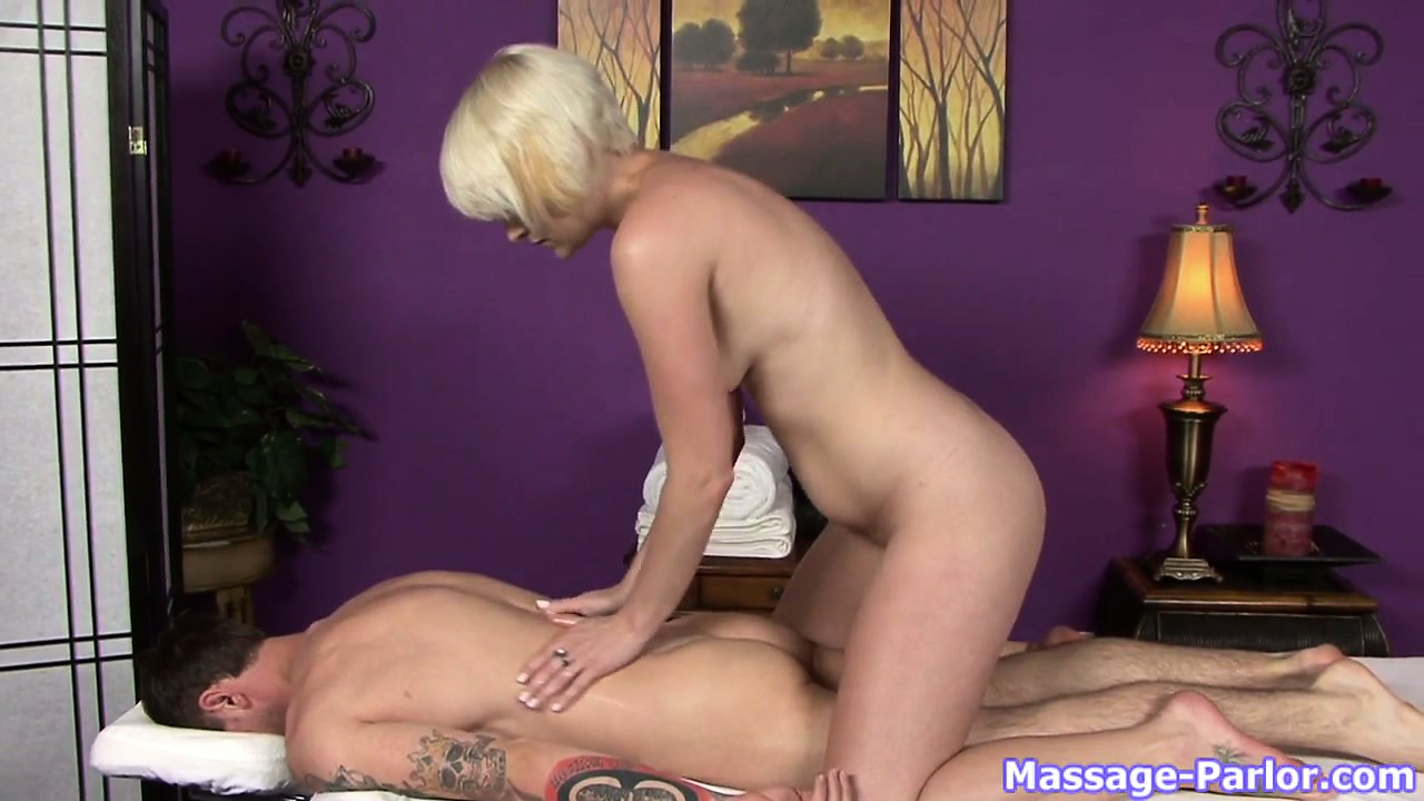 Porno Video of Short-haired Blonde Nora Works Only With The Huge Beaver-cleavers