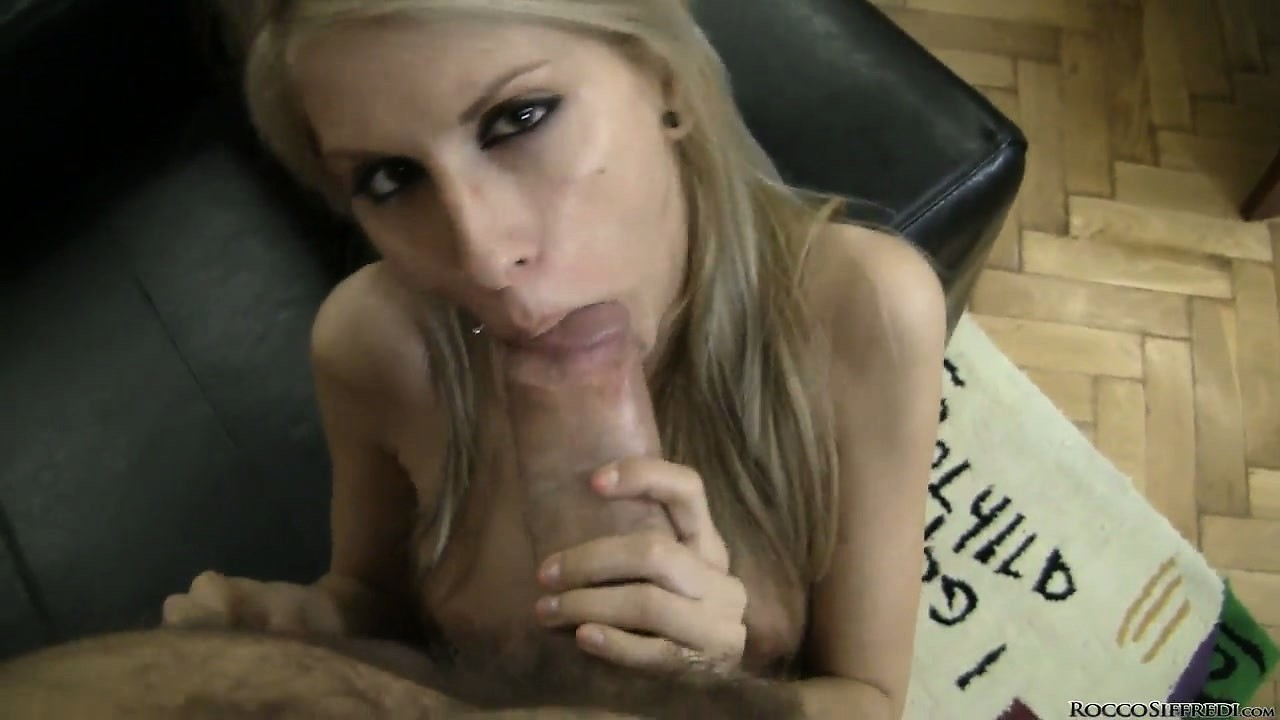 Porno Video of Rocco Gets A Skinny Blonde Naked With Lips Wrapped Around His Piece Of Meat