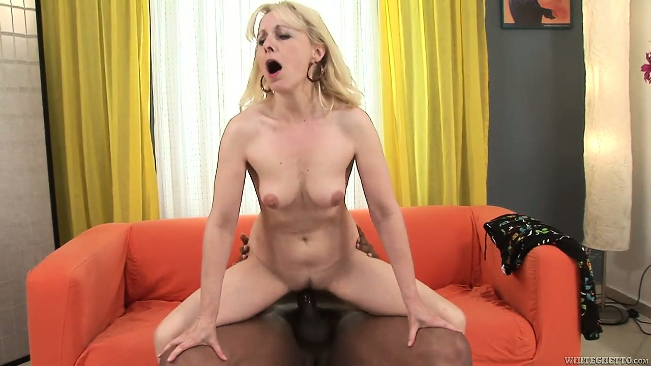 Porno Video of Adorable Blonde Mature With Lovely Tits Goes For The Black Cock Experience