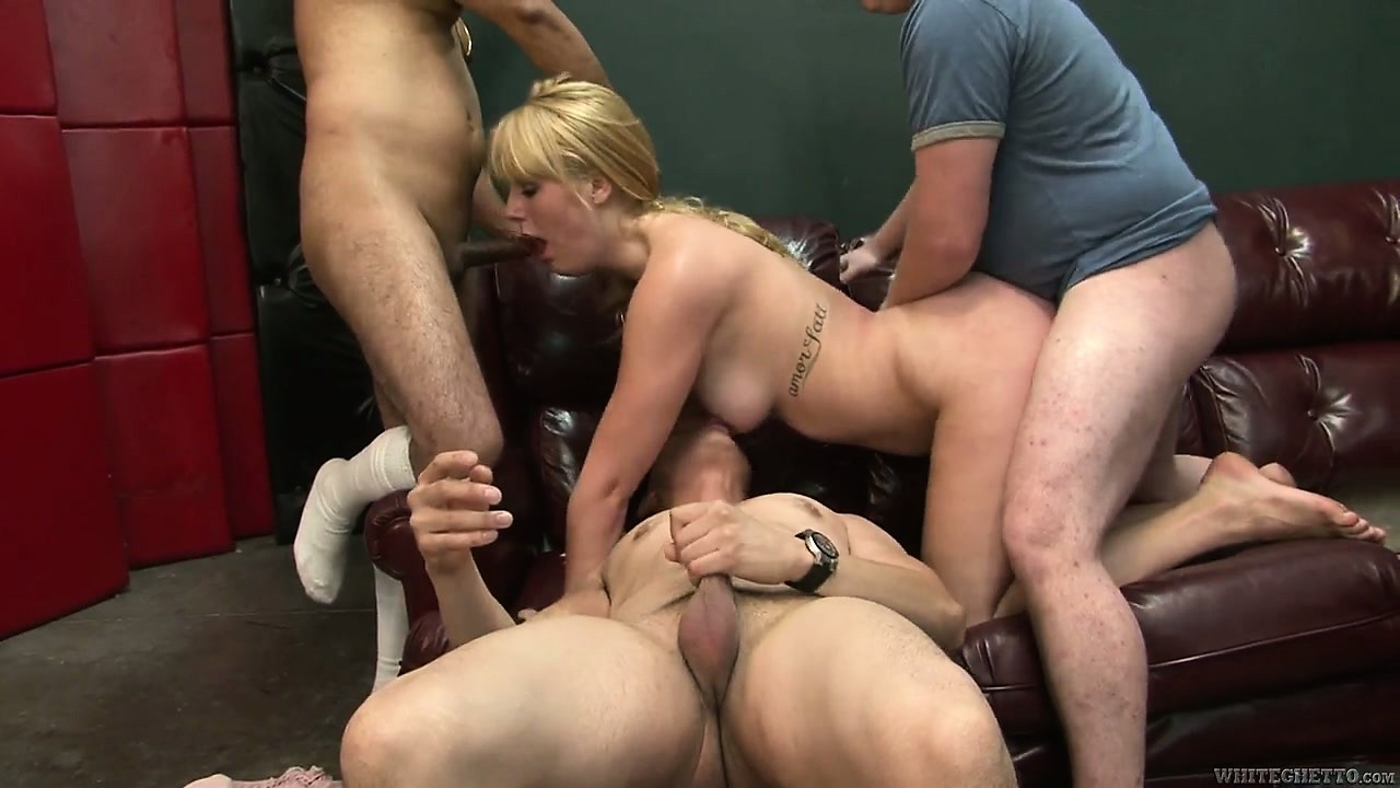 Porno Video of Chubby Young Teen Emma Ash Slammed Hard By Three Horny Dudes In A Homemade Gang-bang