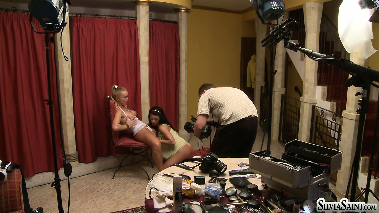Porn Tube of Blonde Babe Is Joined By Her Friend For A Behind The Scenes Porno