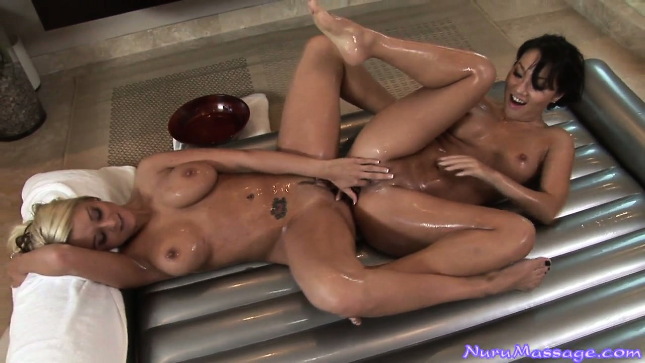 Porn Tube of Gorgeous Lesbian Babes Hit The Showers After Scissoring Each Other