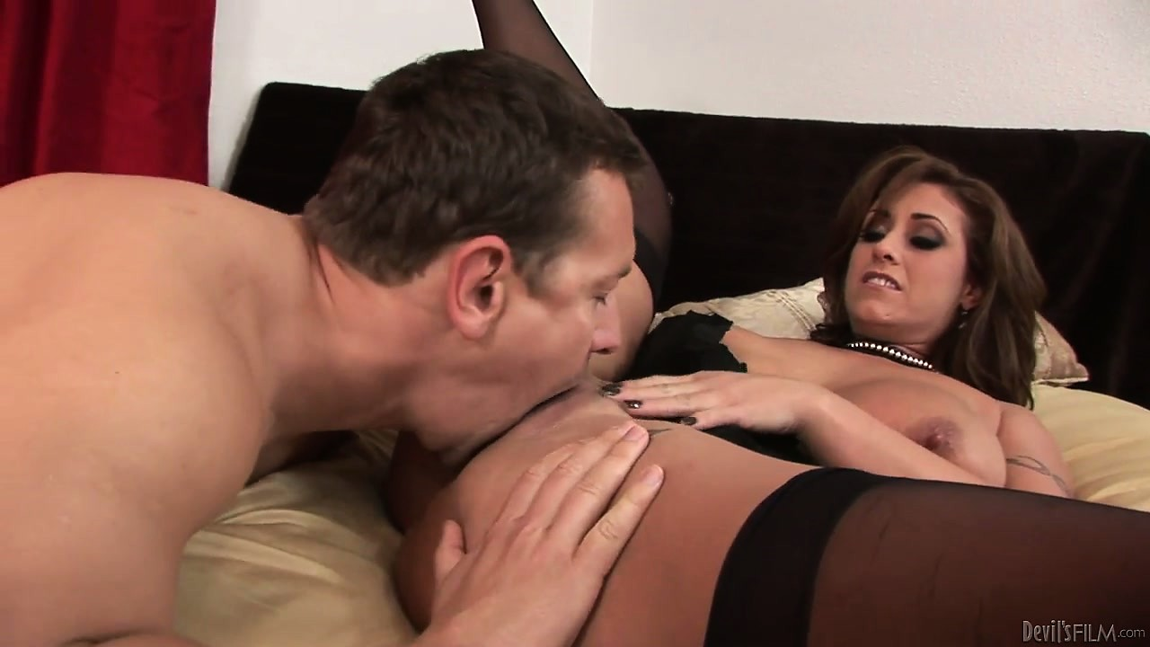 Porn Tube of Brunette Milf And Her Huge Hooters Are Called In For A Blowjob Audition