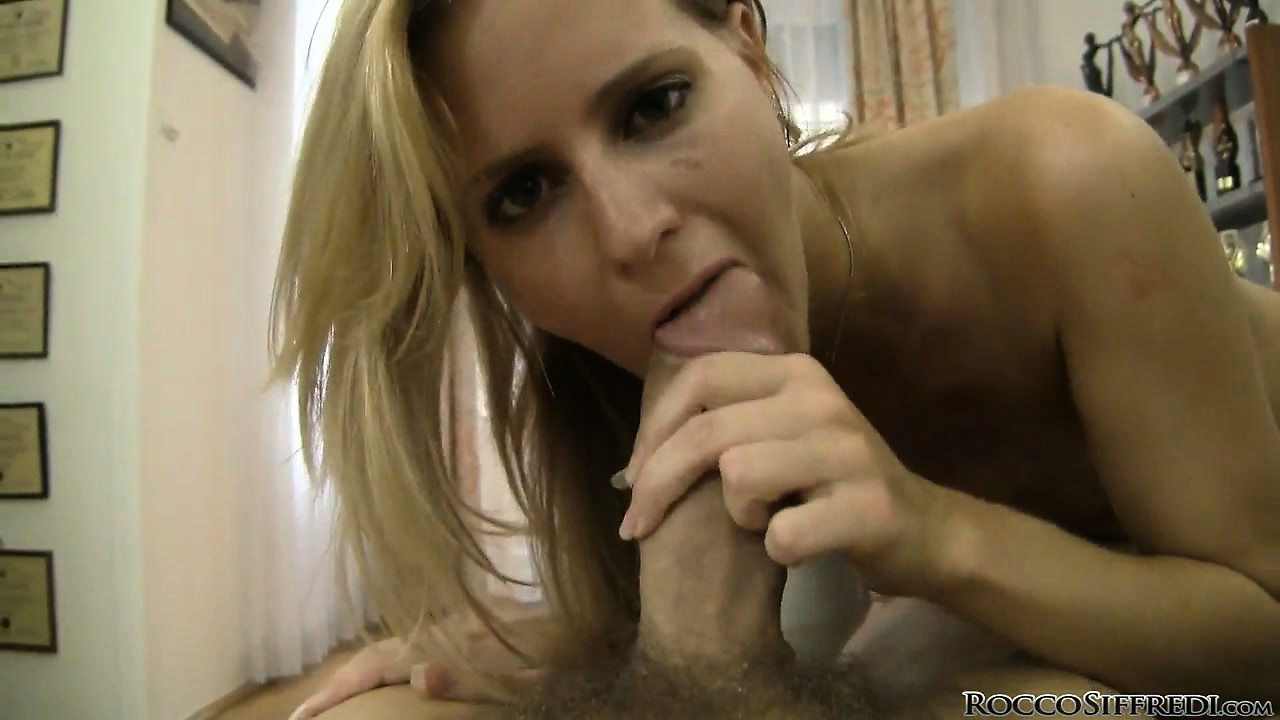 Porno Video of She Slurps And Then Rides Him Legs Spread Wide, And Eats Up His Cum