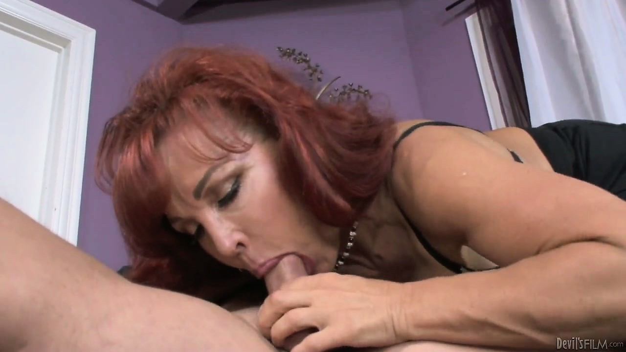 Porno Video of Mature Redheaded Mother In Law Gets A Lusty Pussy Licking From Her New Son