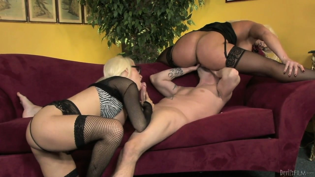 Porno Video of Nerdy Blonde Daughter Has To Wait Till He Fucks Busty Mommy First