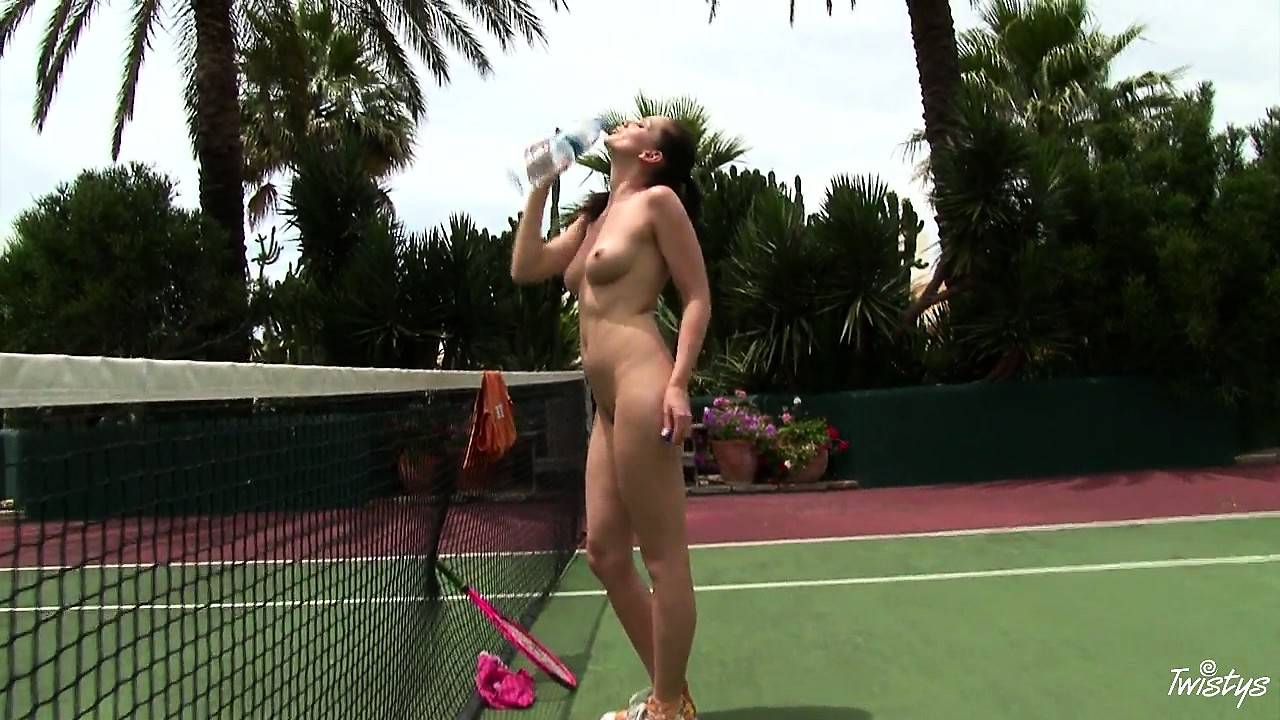 Porno Video of Kinky Brunette Spreads Her Two Kinky Fuckholes At A Tennis Court