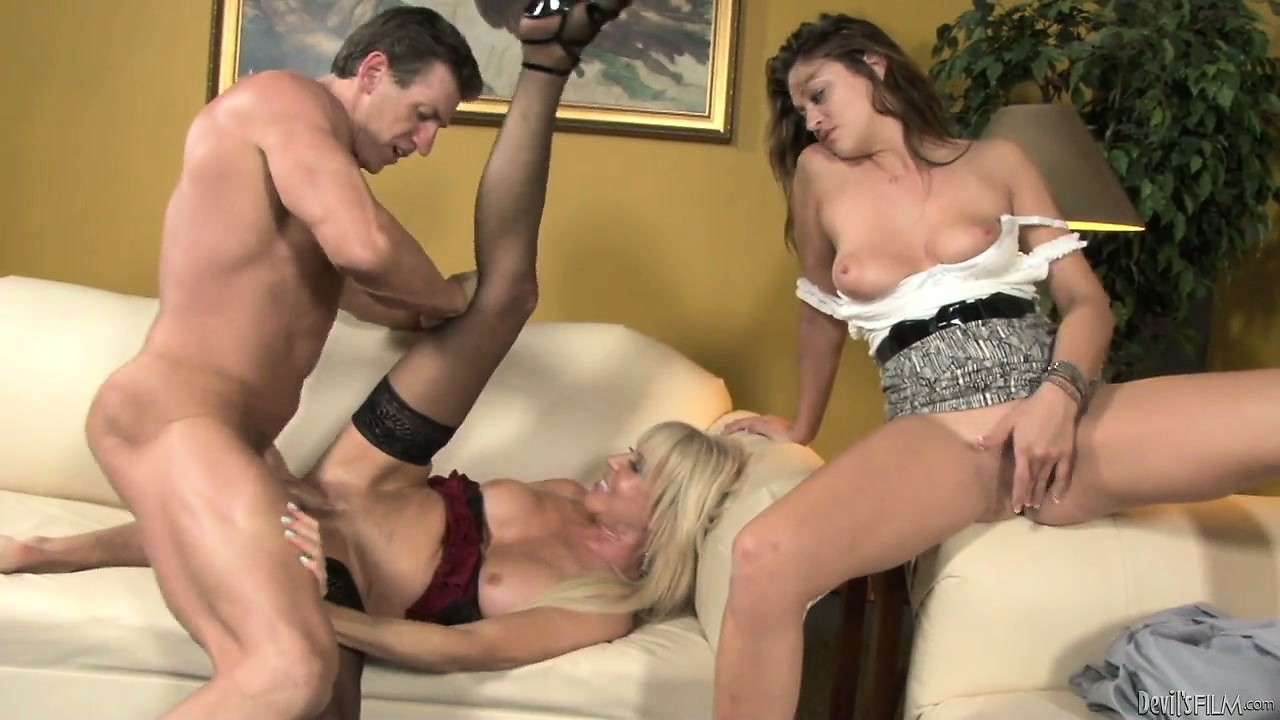 Porn Tube of Earning Access To Young Hottie's Pussy By Fucking Her Loose Momma