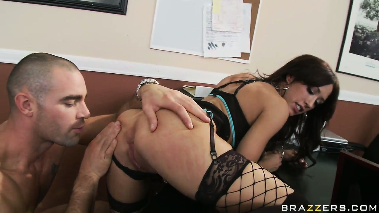 Porn Tube of She Bends Over So She Can Take His Slit Spreader From Behind
