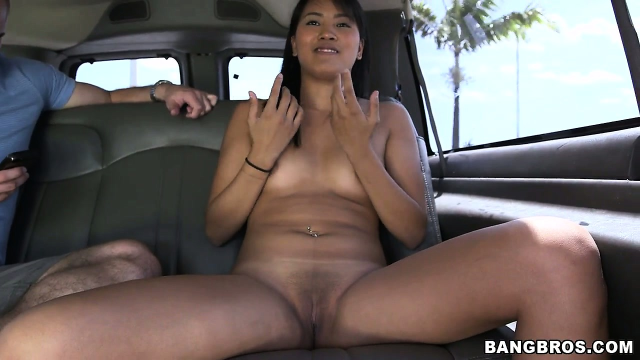 Sex Movie of Cute Asian Teen Gets Naked On The Bang Bus And Makes Some Cash
