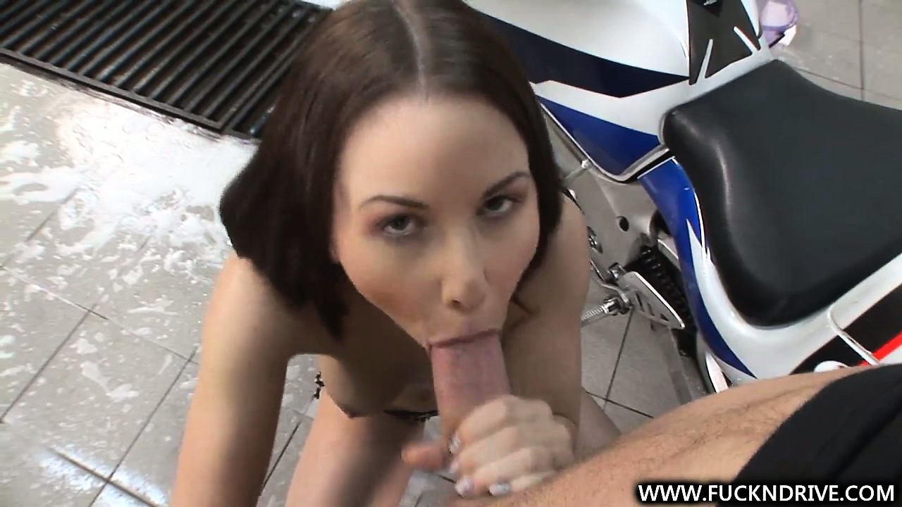 Porno Video of She's A Biker Chick That Knows How To Lick It Before Stickin' It