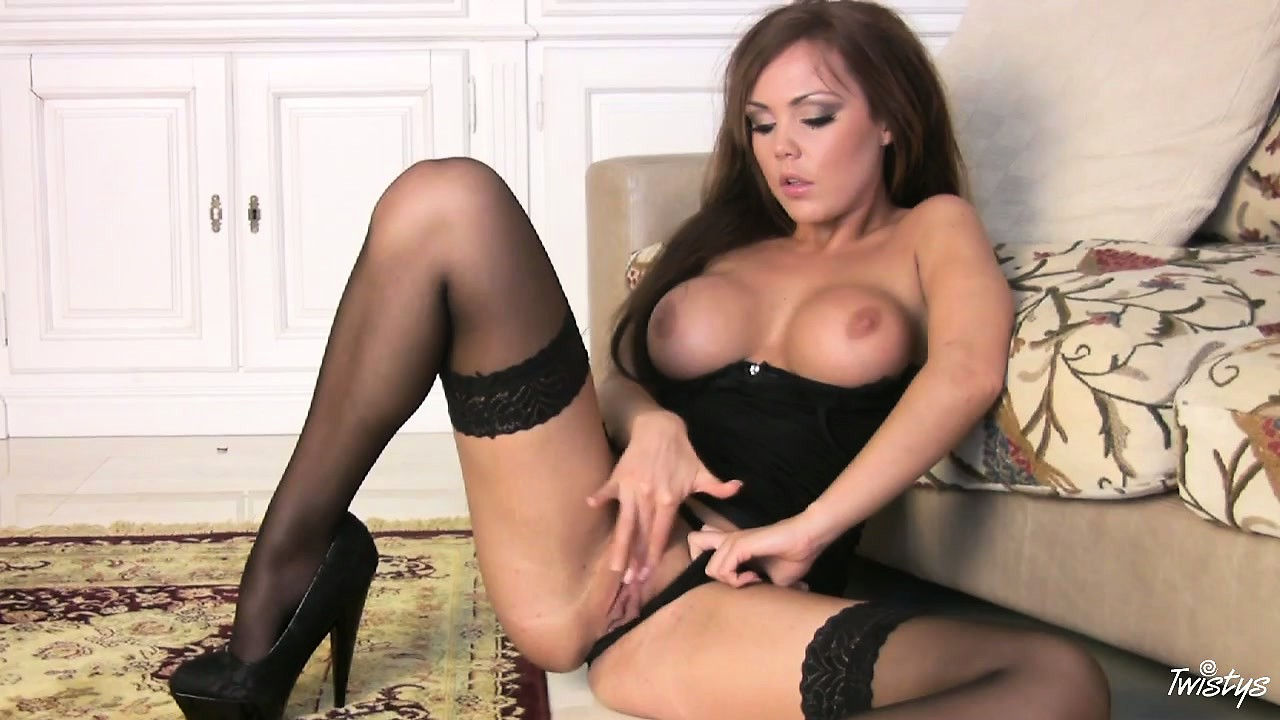 Porno Video of Bodacious Brunette With Perky Silicone Boobs Moves Her Sexy Lingerie Aside For Access
