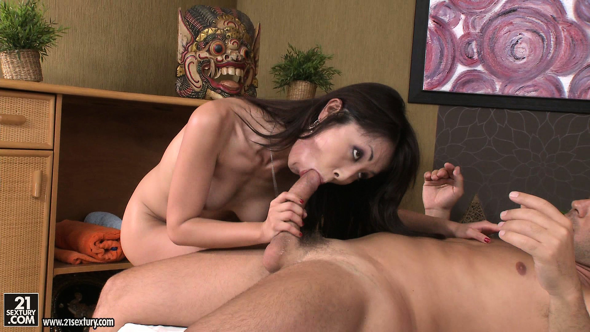 Porn Tube of Skinny Asian With Brown Nipples Gives Two Of Her Customers A Ride